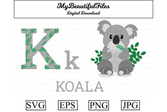 Print on Demand: Alphabet ABC Animal - Koala Graphic Illustrations By MyBeautifulFiles