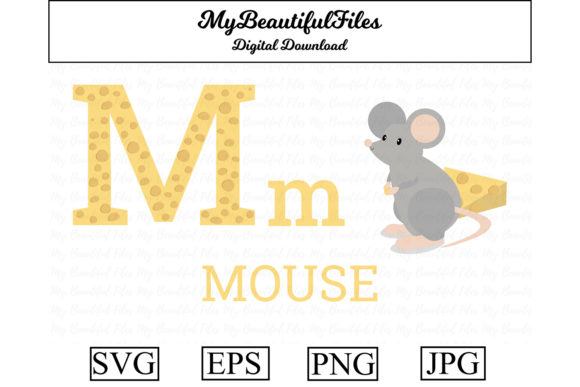 Download Free Alphabet Abc Animal Mouse Graphic By Mybeautifulfiles for Cricut Explore, Silhouette and other cutting machines.