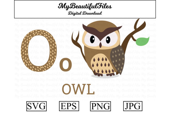 Download Free Alphabet Abc Animal Owl Graphic By Mybeautifulfiles Creative for Cricut Explore, Silhouette and other cutting machines.