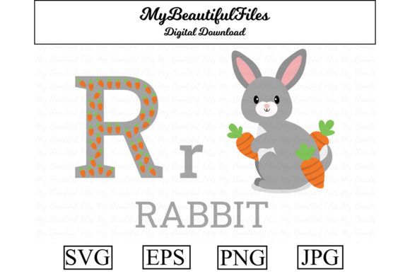 Download Free Alphabet Abc Animal Rabbit Graphic By Mybeautifulfiles for Cricut Explore, Silhouette and other cutting machines.