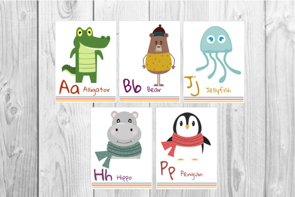 Alphabet Flashcards Graphic Teaching Materials By Igraphic Studio