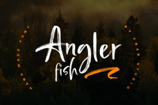 Print on Demand: Angler Fish Script & Handwritten Font By Franstudio