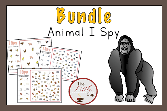 Animal I Spy Bundle Graphic Teaching Materials By marie9