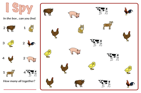 Animal I Spy Bundle Graphic Teaching Materials By marie9 - Image 3