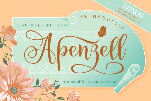 Print on Demand: Apenzell Script & Handwritten Font By mukhstd