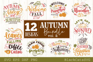 Print on Demand: Autumn Bundle 12 Designs Graphic Crafts By BlackCatsMedia