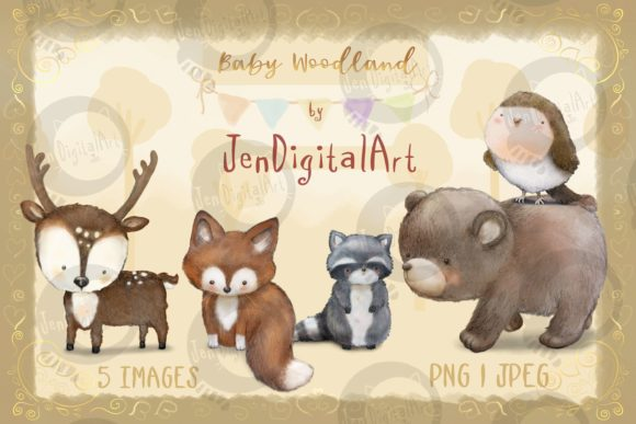Baby Woodland Graphic Illustrations By Jen Digital Art