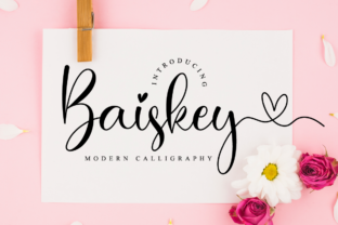 Print on Demand: Baiskey Script & Handwritten Font By NissaStudio