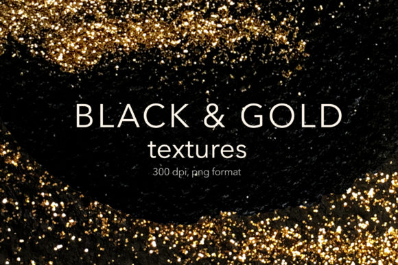 Black and Gold Textures Graphic Textures By Vera Vero