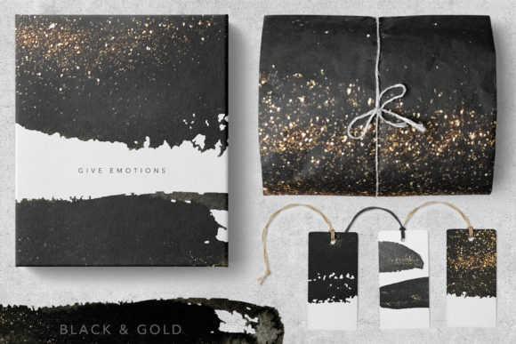 Black And Gold Textures Graphic By Vera Vero Creative Fabrica