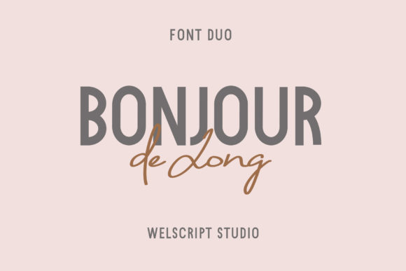 Print on Demand: Bonjour De Jong Sans Serif Font By wellscriptstudio