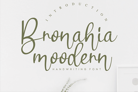 Print on Demand: Bronahia Script & Handwritten Font By andikastudio