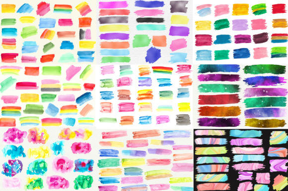 Bundle Brush Strokes Clip Art Graphic Illustrations By PinkPearly - Image 4