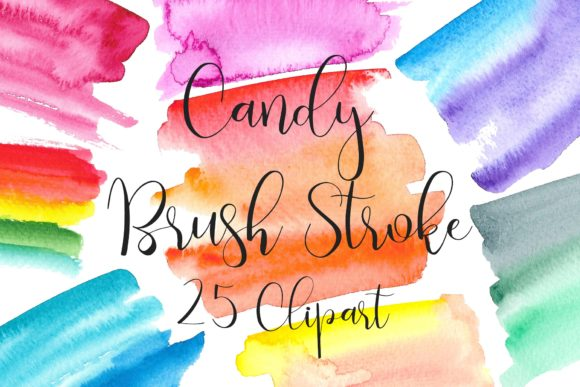 Bundle Brush Strokes Clip Art Graphic Illustrations By PinkPearly - Image 5