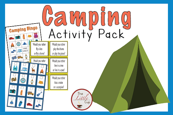 Camping Activity Pack Graphic Teaching Materials By marie9