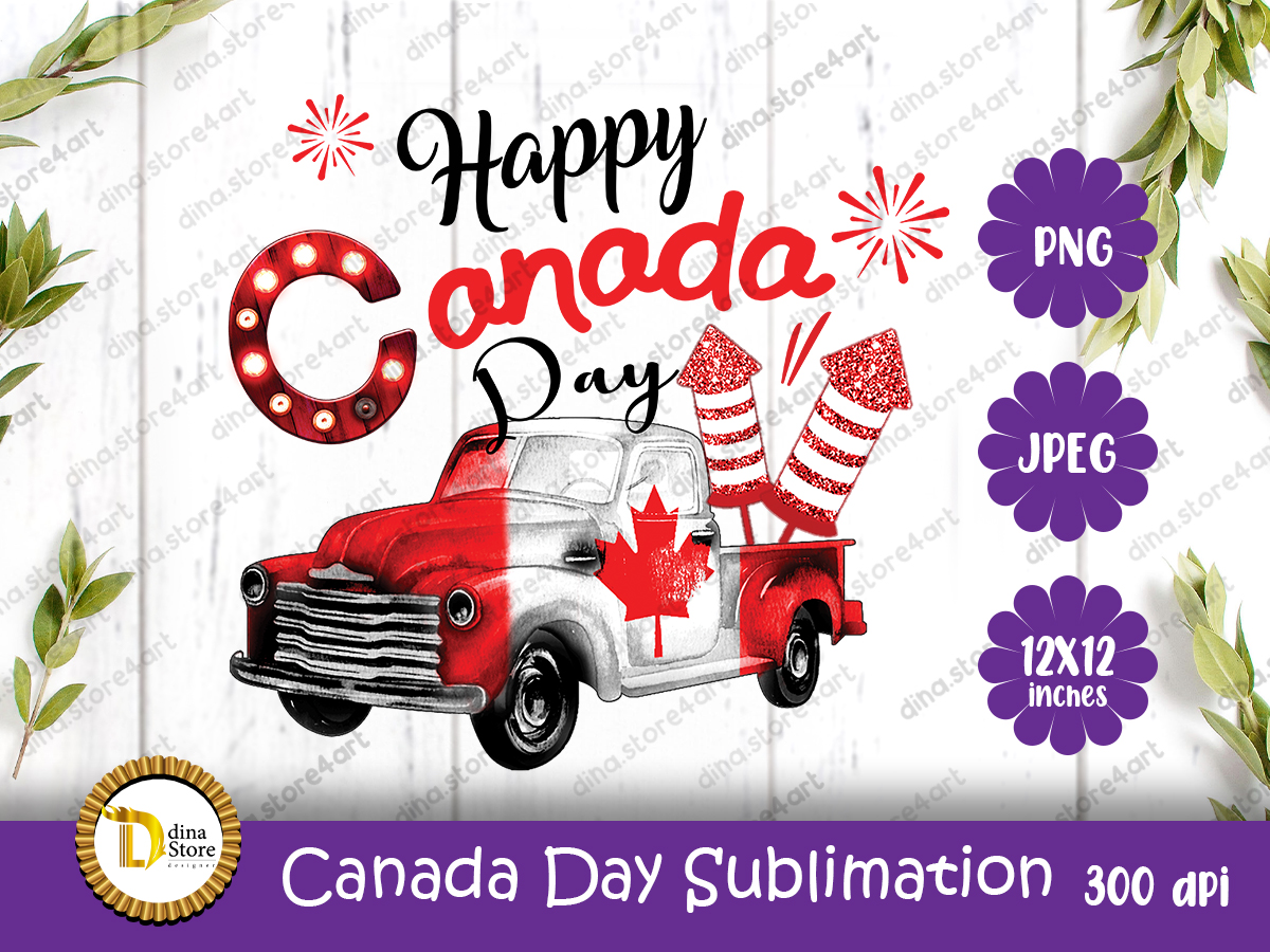 Canada Day Sublimation Truck SVG File