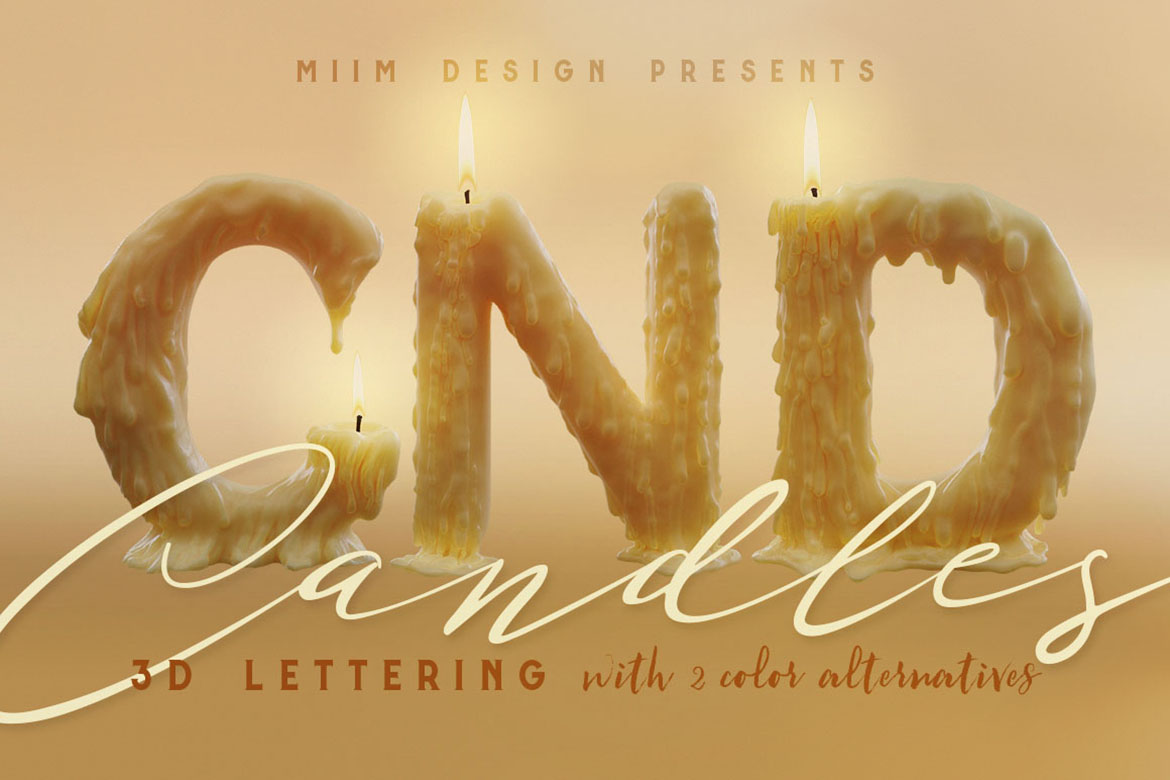 Download Free Candle Light 3d Lettering Graphic By Jumbodesign Creative for Cricut Explore, Silhouette and other cutting machines.