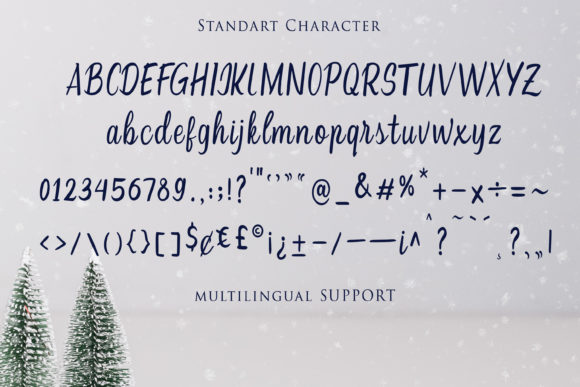 Print on Demand: Christmas Script & Handwritten Font By Girinesia - Image 9