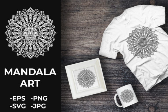 Download Free Circular Pattern Mandala Art 163 Graphic By Azrielmch for Cricut Explore, Silhouette and other cutting machines.
