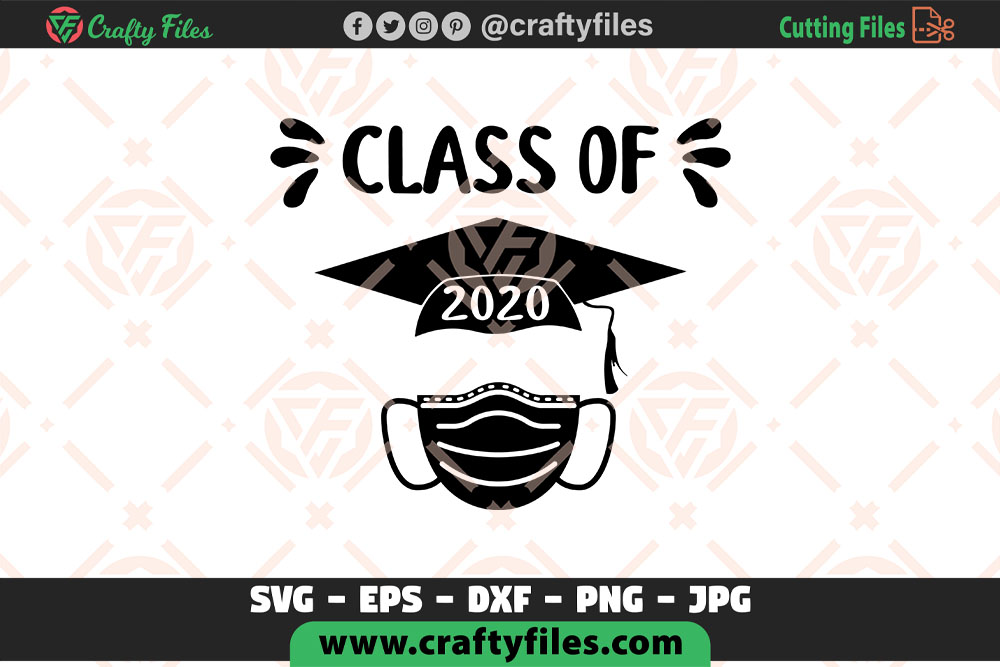 Download Free Class Of 2020 Graduated Cap Graphic By Crafty Files Creative for Cricut Explore, Silhouette and other cutting machines.