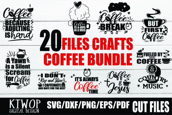 Print on Demand: Coffee | Love Coffee Bundle Graphic Crafts By KtwoP