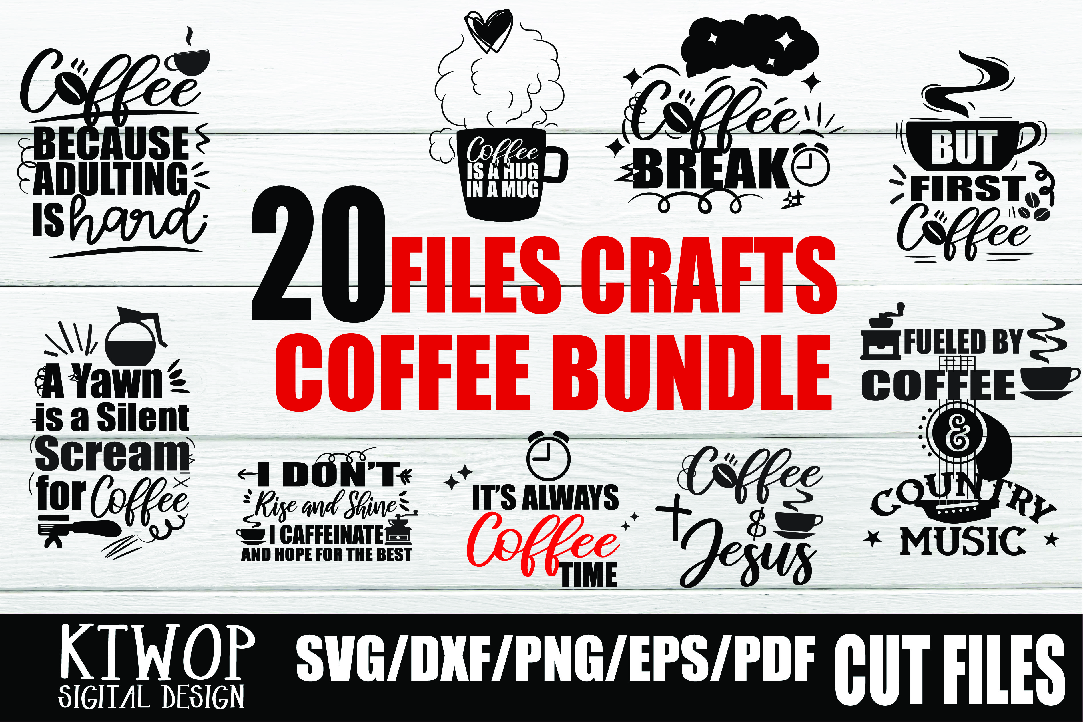 Download Free Coffee Love Coffee Bundle Graphic By Ktwop Creative Fabrica for Cricut Explore, Silhouette and other cutting machines.