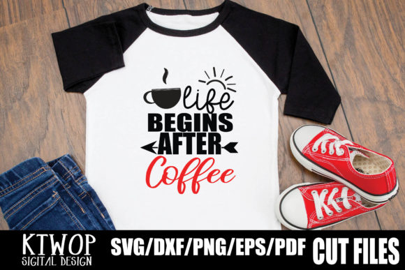 Download Free Life Begins After Coffee Graphic By Ktwop Creative Fabrica for Cricut Explore, Silhouette and other cutting machines.