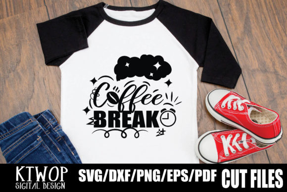 Download Free Coffee Break Graphic By Ktwop Creative Fabrica for Cricut Explore, Silhouette and other cutting machines.