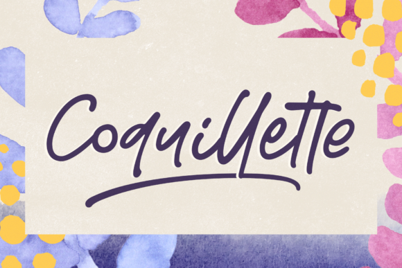 Print on Demand: Coquillette Script & Handwritten Font By Ayca Atalay