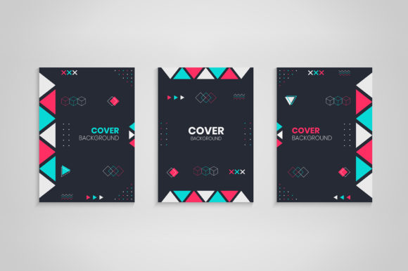 Cover Design with Geometric Decoration Graphic Backgrounds By medelwardi