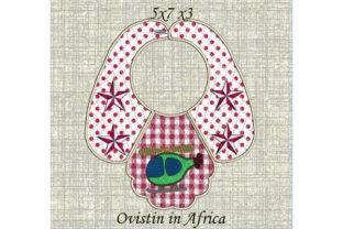 Cute Helicopter Baby Bib for Small Hoops Nursery Embroidery Design By Ovistin in Africa