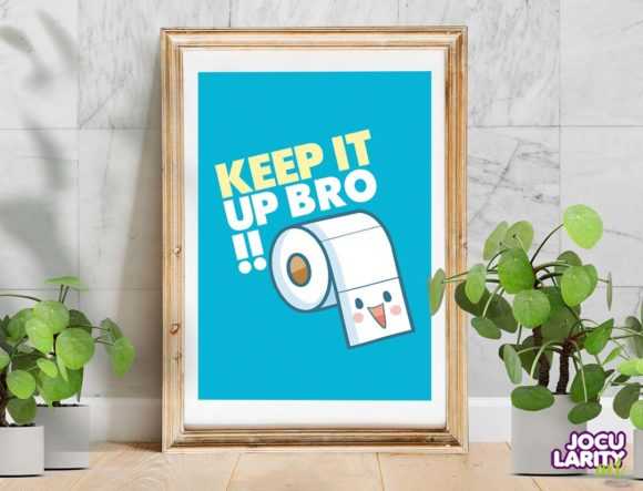 Download Free Cute Kawaii Toilet Tissue Wall Art Graphic By Jocularityart for Cricut Explore, Silhouette and other cutting machines.