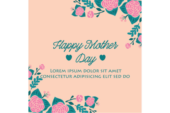 Download Free Cute Happy Mother Day Cards Design Graphic By Stockfloral for Cricut Explore, Silhouette and other cutting machines.