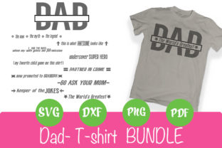 Print on Demand: Dad Shirt Bundle Graphic Crafts By rushton_tracy