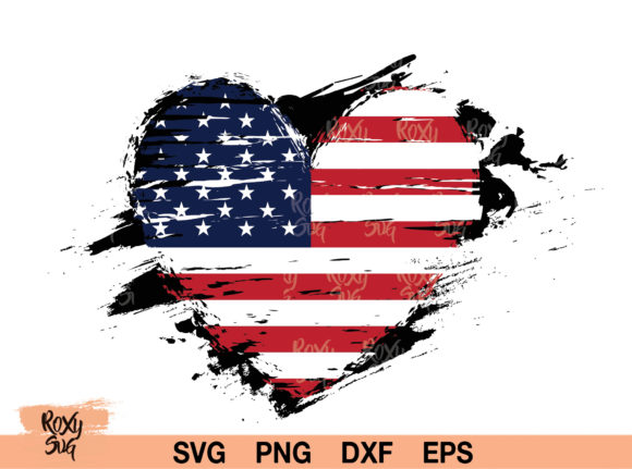 Print on Demand: Distressed American Flag   Graphic Crafts By roxysvg26