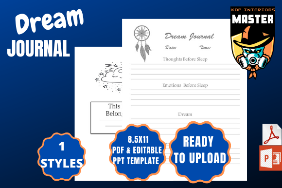 Print on Demand: Dream Journal (ready to Upload) Graphic KDP Interiors By KDP_Interiors_Master