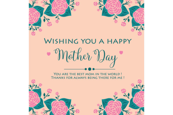 Download Free Elegant Happy Mother Day Cards Design Graphic By Stockfloral for Cricut Explore, Silhouette and other cutting machines.