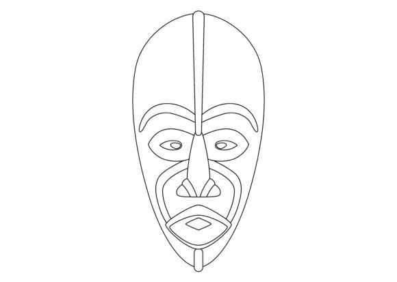 Download Free Ethnic Mask Black 5 Graphic By Studioisamu Creative Fabrica for Cricut Explore, Silhouette and other cutting machines.