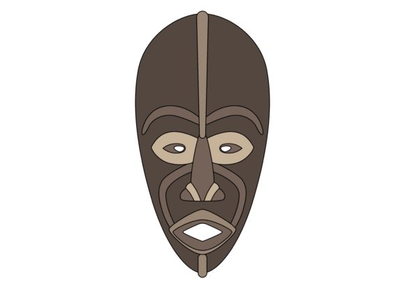 Download Free Ethnic Mask Color 5 Graphic By Studioisamu Creative Fabrica SVG Cut Files