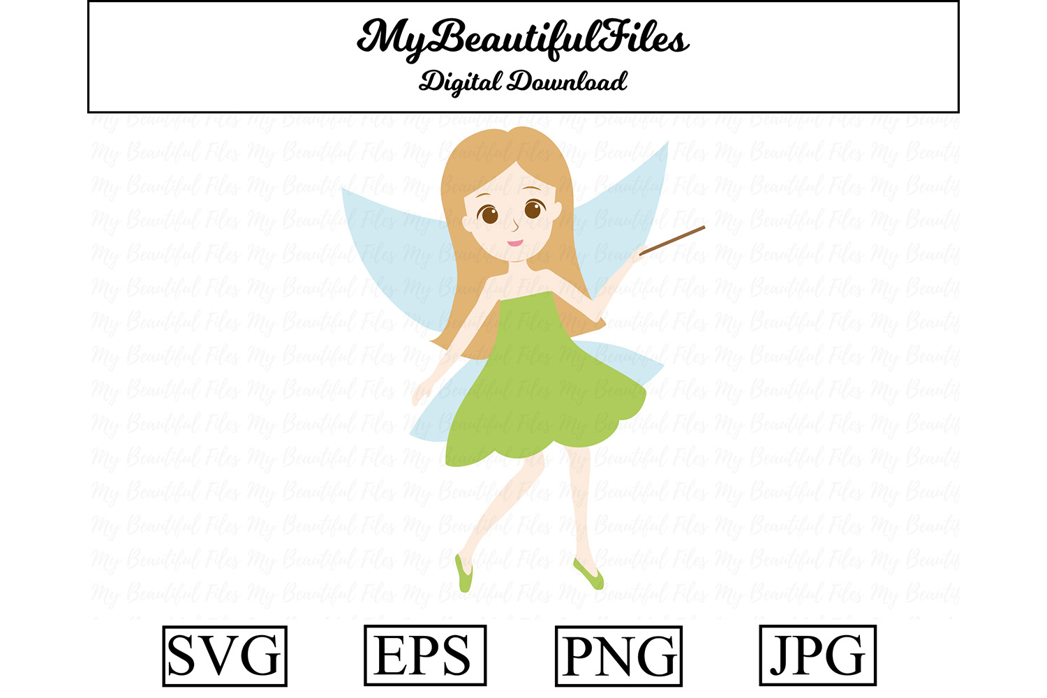 Download Free Fairy Cute Clipart Graphic By Mybeautifulfiles Creative Fabrica for Cricut Explore, Silhouette and other cutting machines.