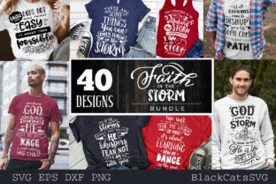 Download Free Faith Bundle Bundle 40 Designs Graphic By Blackcatsmedia for Cricut Explore, Silhouette and other cutting machines.