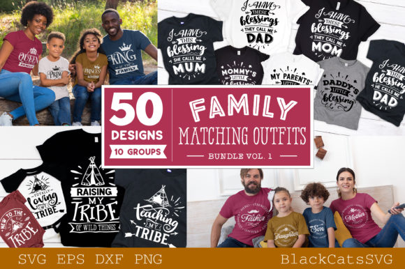 Family Matching Outfits Bundle Vol 1 Graphic Crafts By BlackCatsMedia - Image 2