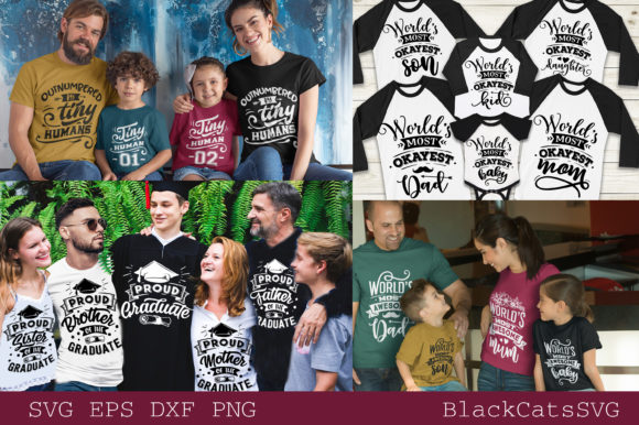 Family Matching Outfits Bundle Vol 2 Graphic Download