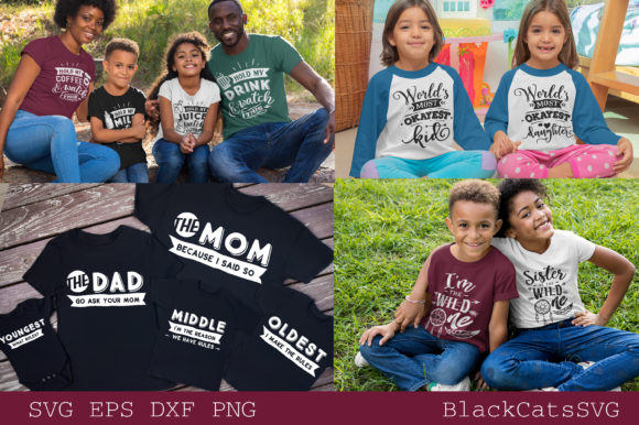 Family Matching Outfits Bundle Vol 2 Graphic Item