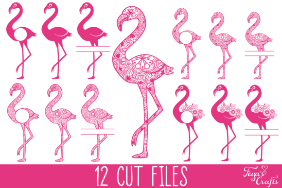 Print on Demand: Flamingo Bundle Graphic Crafts By Anastasia Feya