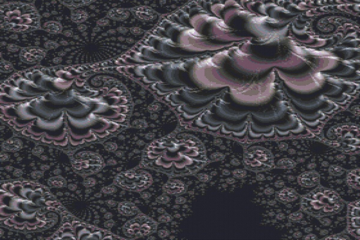 Download Free Fractal Cross Stitch Pattern Grey Graphic By Stitchx Designs for Cricut Explore, Silhouette and other cutting machines.