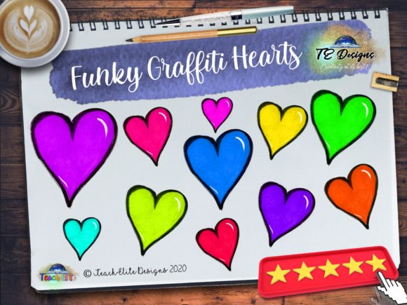 Download Free Graffiti Hearts Graphic By Te Designs Creative Fabrica for Cricut Explore, Silhouette and other cutting machines.
