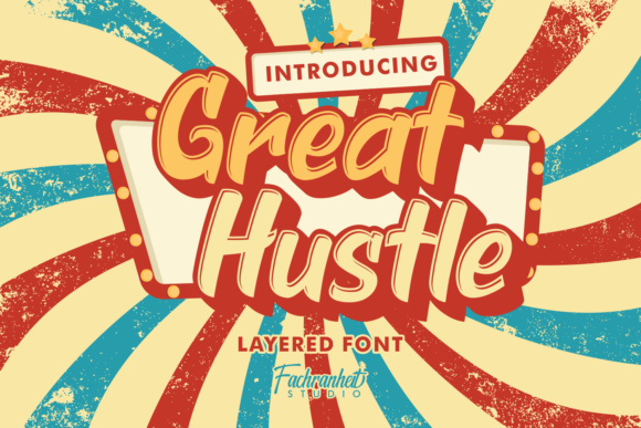 Print on Demand: Great Hustle Display Font By fachranheit