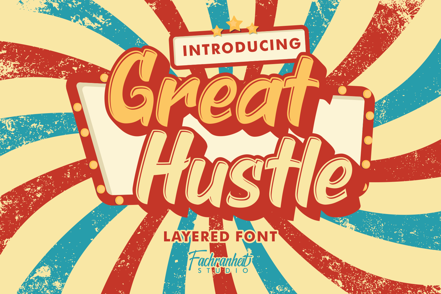 Download Free Great Hustle Font By Fachranheit Creative Fabrica for Cricut Explore, Silhouette and other cutting machines.