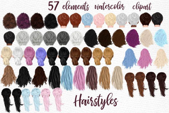 Hairstyles Clipart  Graphic Illustrations By LeCoqDesign